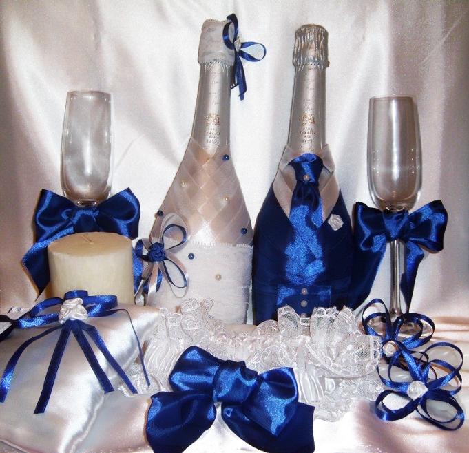 Как сделать бокалы и шампанское на свадьбу 53